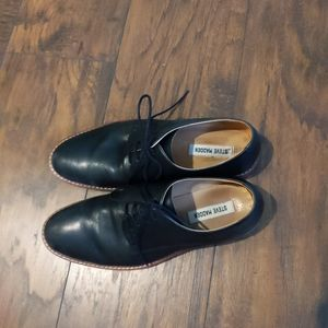 Steve Madden Black Leather Men's Lace Up Bellman 7